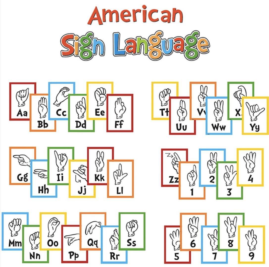 Sign Language Alphabet Mini Bulletin Board Set(39 pcs)