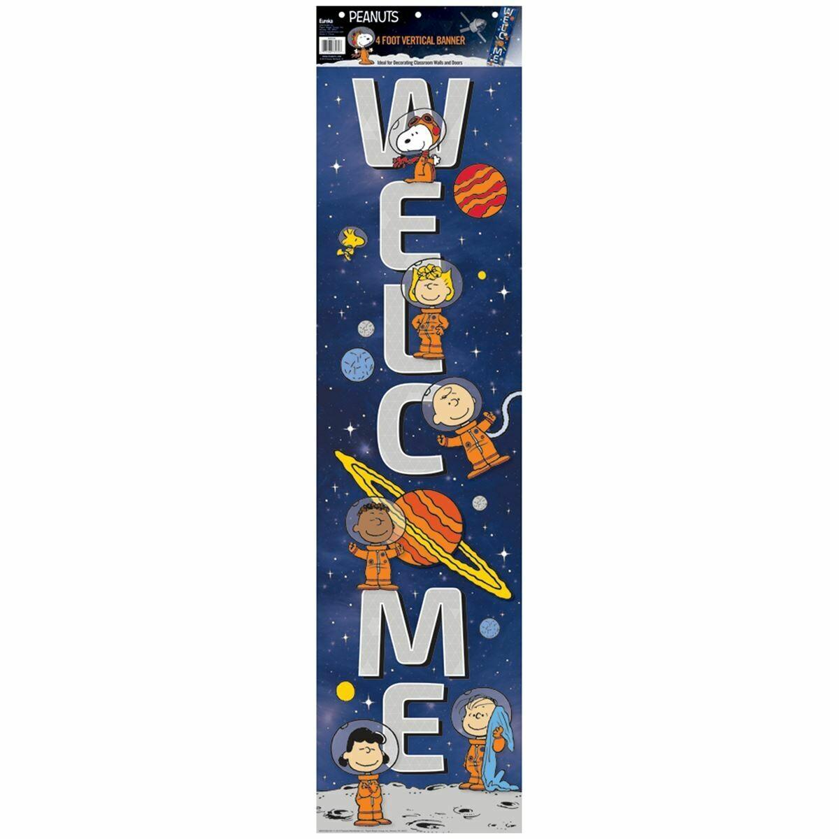 Vertical Banner Snoopy Nasa Welcome