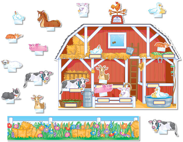 Barnyard Pocket Chart (35 pcs)