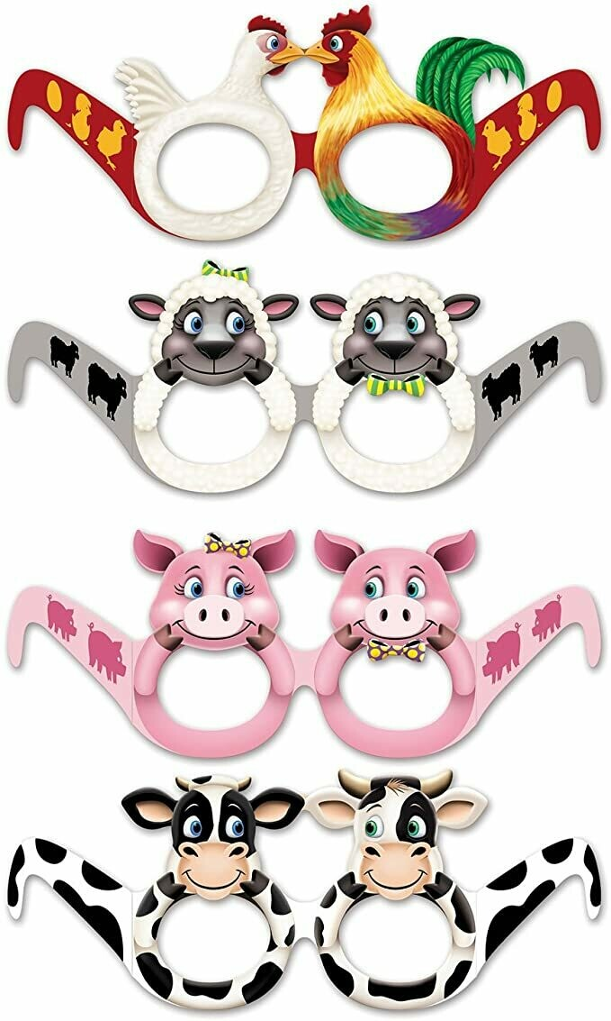 Farm Animal Eyeglasses (pk-12)