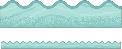 Border Blue Woodgrain