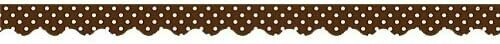 Border Trim Polka Dots- Chocolate