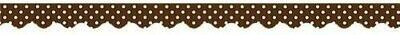 Border Trim Polka Dots- Chocolate
