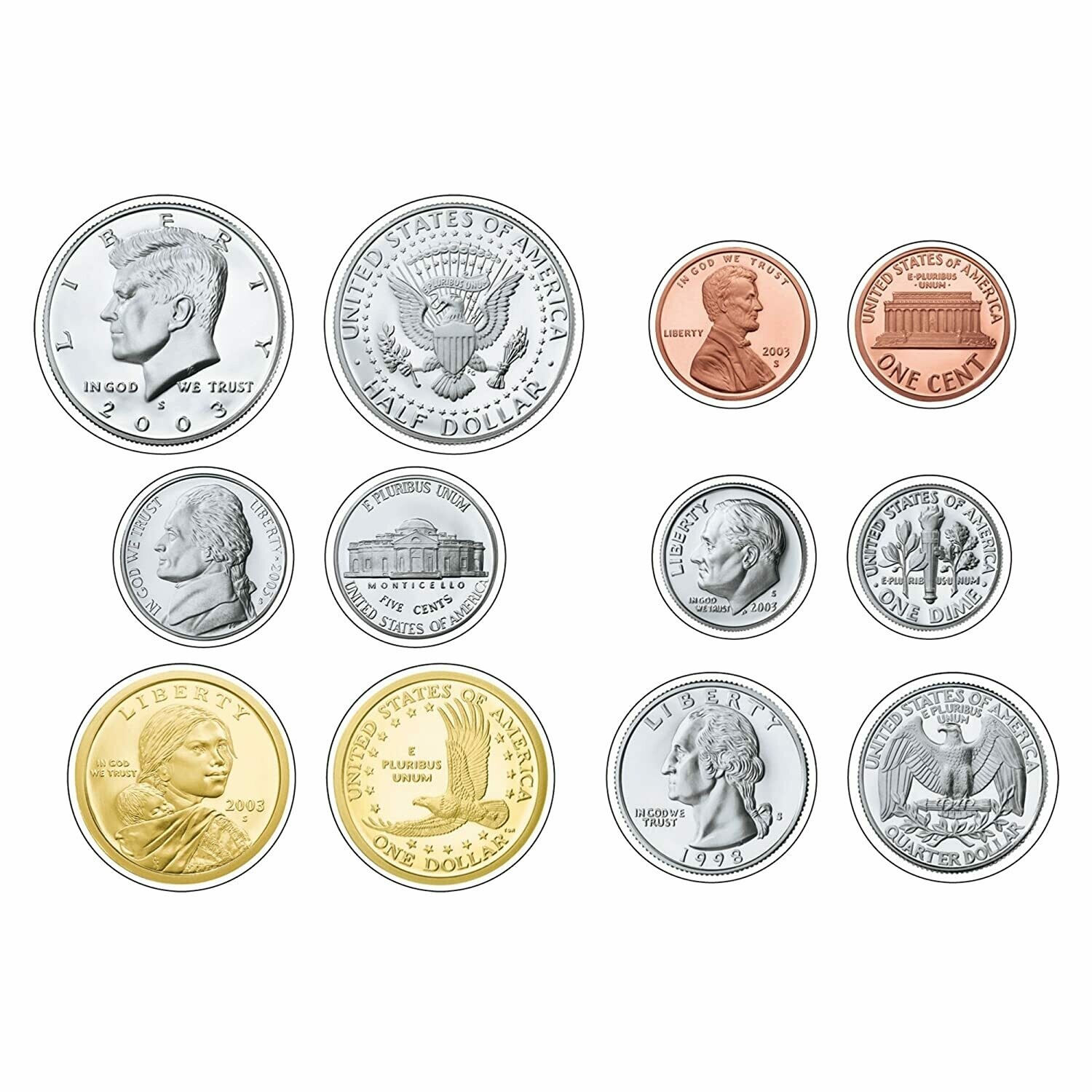 Classic Accents U.S. Coins [Variety Pack] [pk-36]