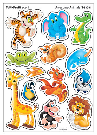 Stickers Awesome Animals (4 sheets)