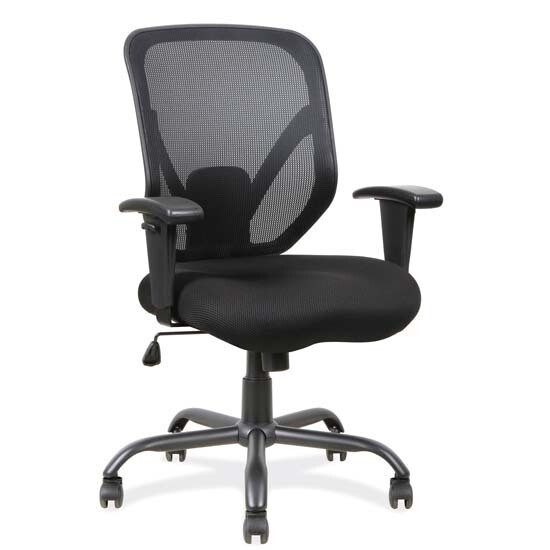 Big and Tall Mesh Task Chair with Black Steel Heavy Duty Base, Weight Capacity 400lbs
