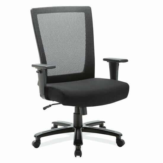 Big and Tall High Back Chair with Black Frame, Weight Capacity 400lbs