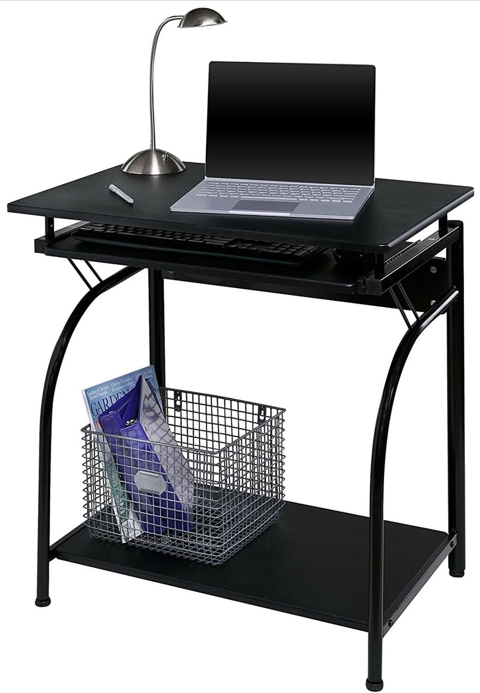 Escritorio para computadora, Negro, 30.5 x 22 x 4 pulgadas