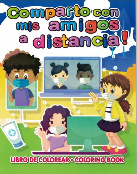 Comparto con mis amigos a distancia - Coloring Book