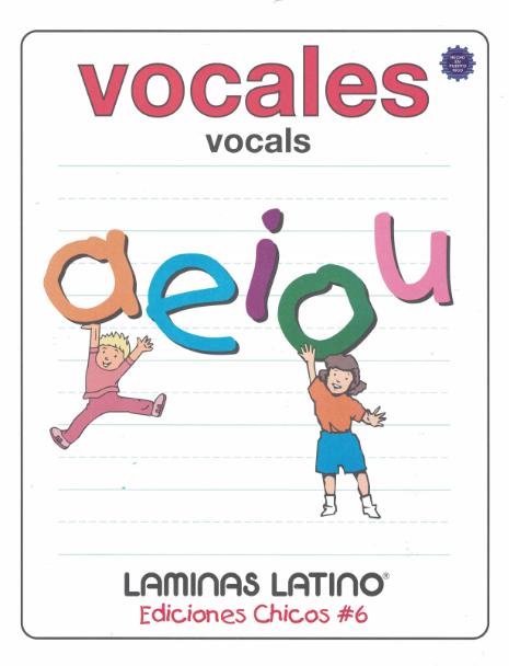 Libro de láminas de Vocales- Español