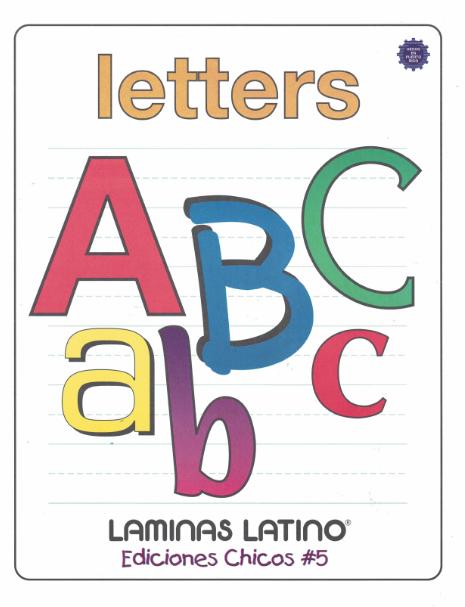 Libro de láminas de Letters- Inglés