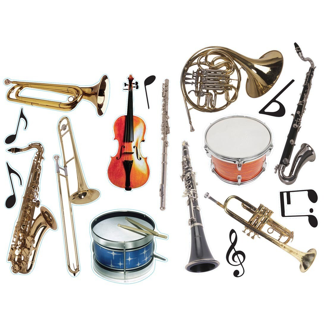 Cut Out Musical Instruments