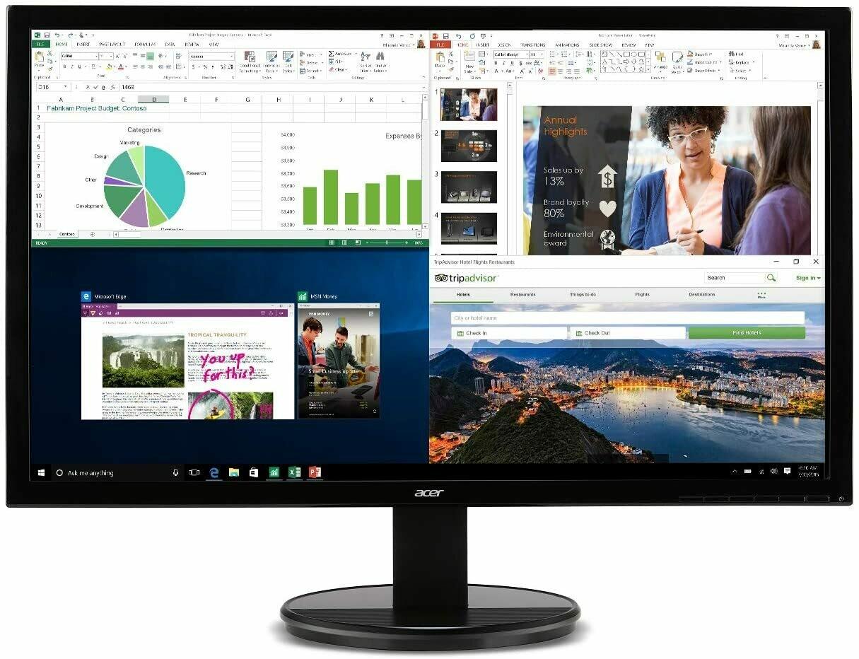 "Acer K202HQL Abi 19.5"" HD Monitor (puerto HDMI y VGA), Negro, 19.5 pulgadas"