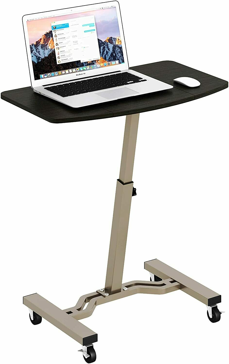 Mobile Stand Desk Rolling Cart, Espresso