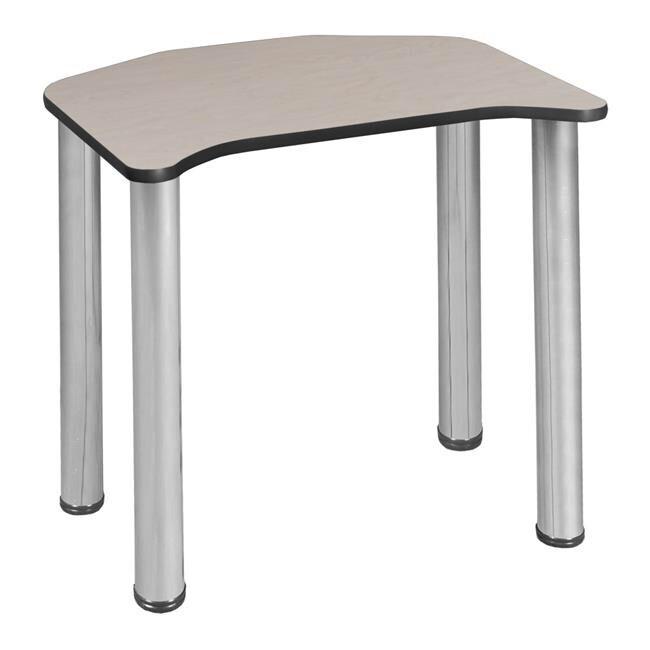 "Ferris 26""x24"" Desk with Chrome Legs & Book Box, Brand: Regency"