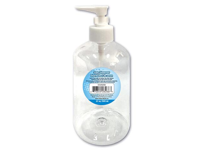 Liquid/Gel Pump Dispenser. 500ml. Clear