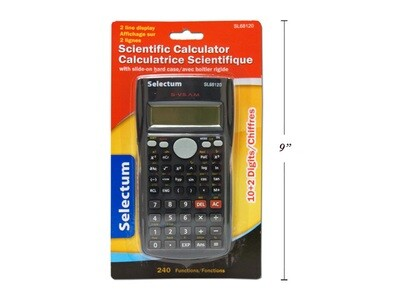 SELECTUM / Scientific Calculator 240 Functions 2 Line Display