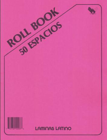 Roll Book Latino 50 Espacios
