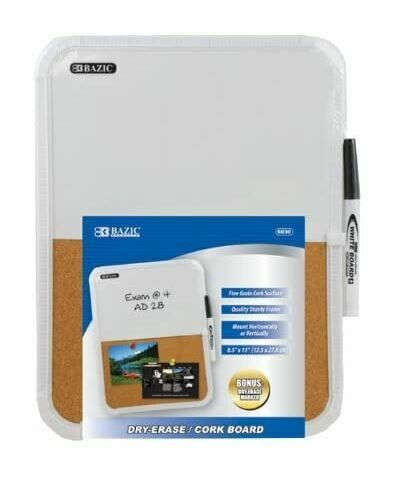 "Dry Erase/Cork Board 8.5"" x 11"""
