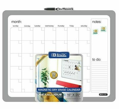 Dry Erase Calendar 16