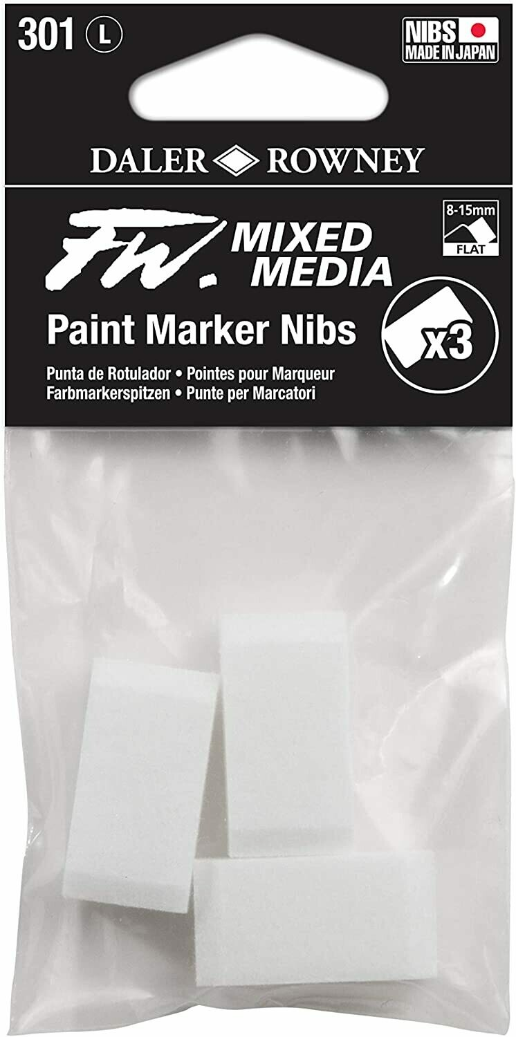 FW Mixed Media Paint Marker Nib, Large 8-15 mm, Pack of 3