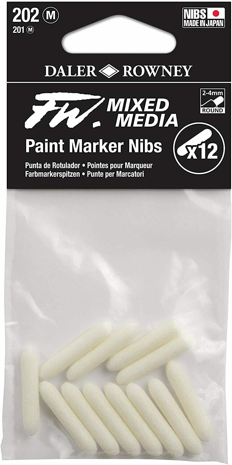 FW Mixed Media Paint Marker Nib, Round 2-4 mm, Pack of 12