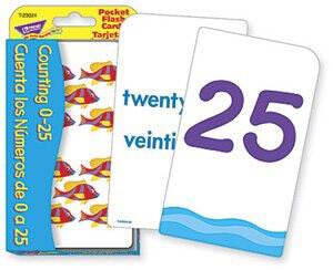 Flash Cards Counting 0-25/ Cuenta Los Números De 0-25