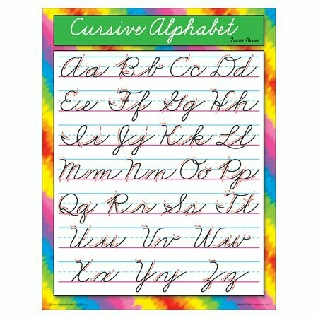 Poster Cursive Alphabet