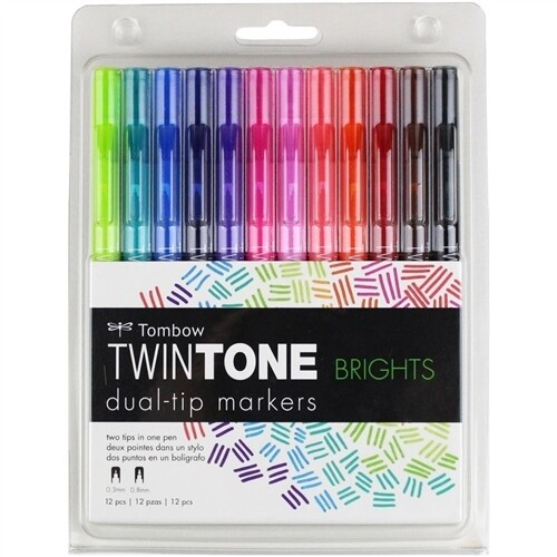 Tombow Markers TwinTone [pk-12]