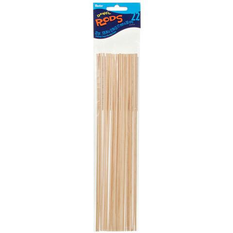 Dowel Rod - Wood - 1/8 x 12 inches - [pk-22]
