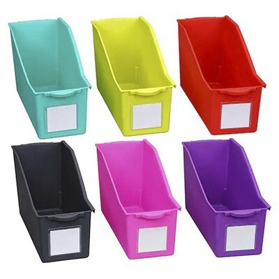 File Magazine Bin: 5.25 x 7.25 inches, 6 Assorted Colors