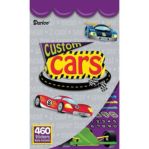 Sticker Book - Custom Cars - 460 stickers
