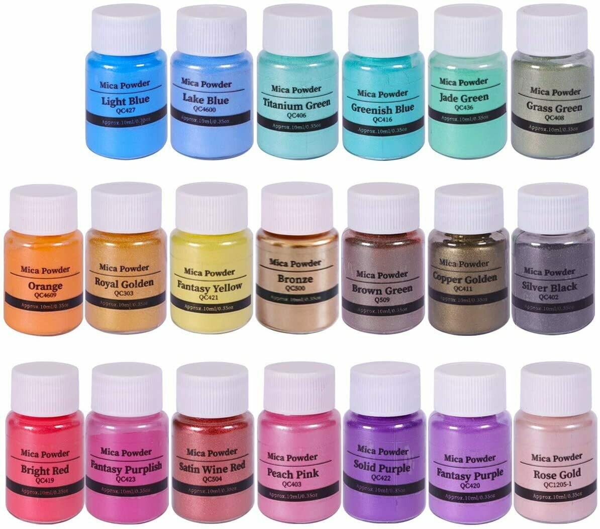 Mica Powder Pigment- Non Toxic [pk-20]