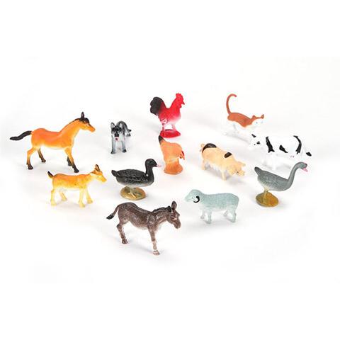 Plastic Animals Farm  - 2 inches - 12 pieces