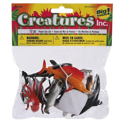 Sea Life Animals - Plastic - Assorted - 2 inches