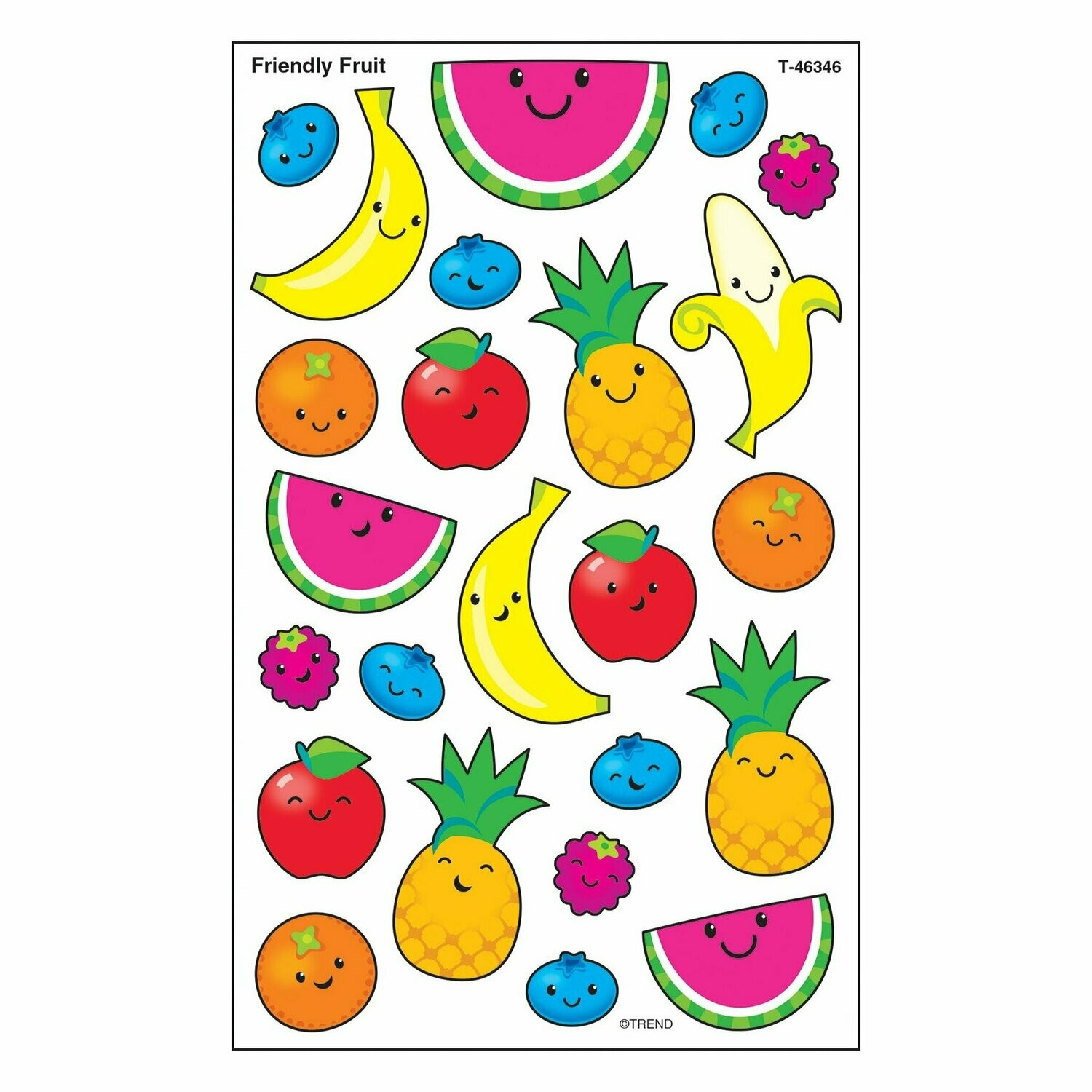 Friendly Fruit superShapes Stickers