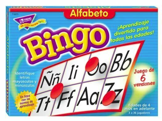 Alfabeto (Spanish) Bingo Game