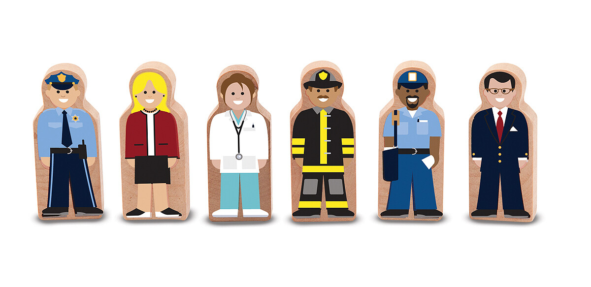 Wooden Figurines- People at Work toy