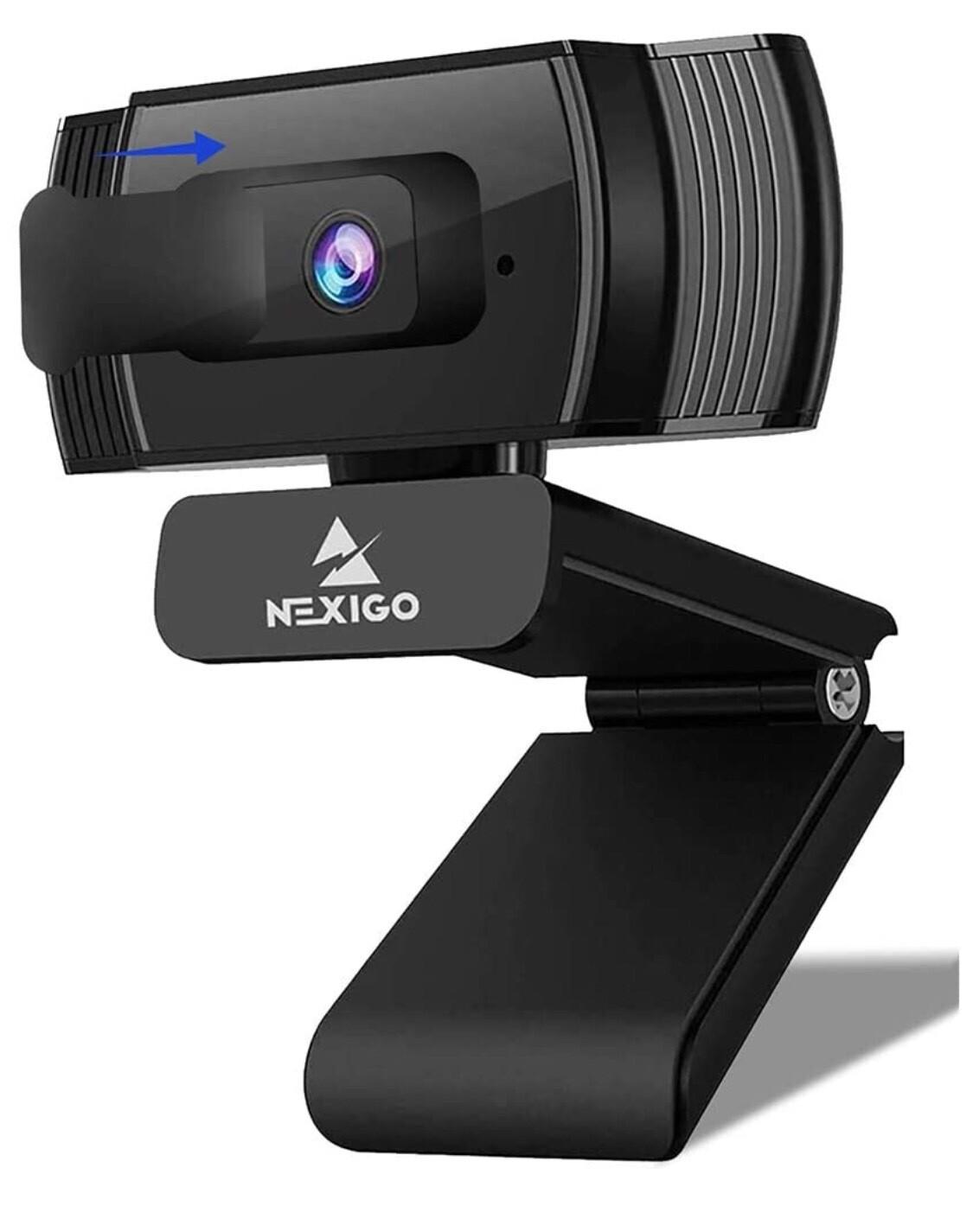 AutoFocus 1080p Streaming Webcam con micrófono estéreo y cubierta de privacidad, NexiGo FHD USB Cámara Web, para Clases Online, Zoom Meeting Skype Facetime Teams, PC, Mac, Laptop Desktop