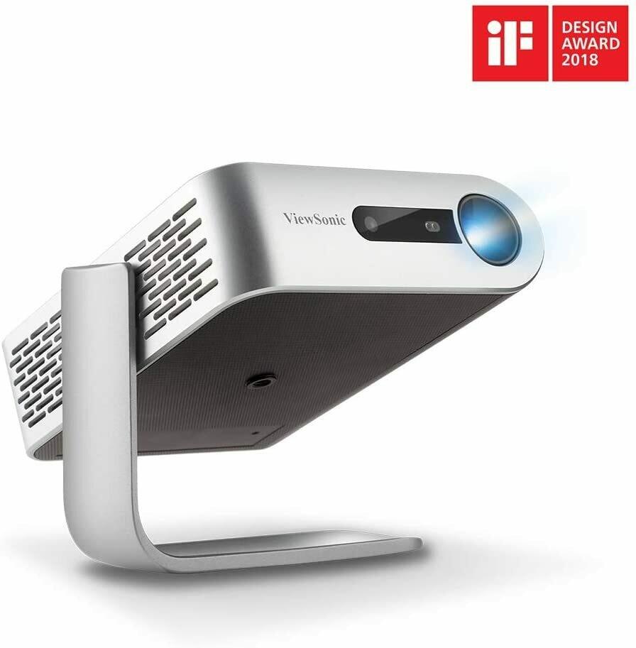 Proyector portátil Smart Wi-Fi Marca ViewSonic  M1+  - con dos altavoces Harman Kardon Bluetooth -  HDMI, USB, tipo C, y batería integrada