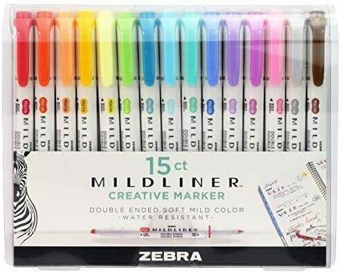 Zebra Mildliner Creative Markers