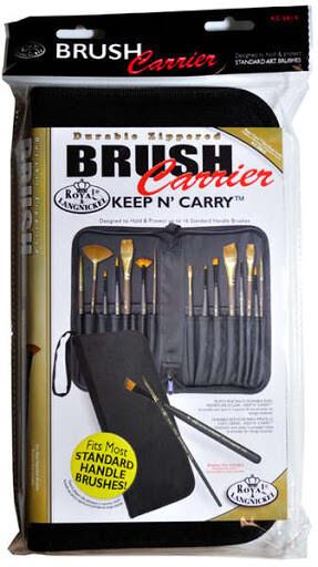 Empty Zippered Brush Carrier