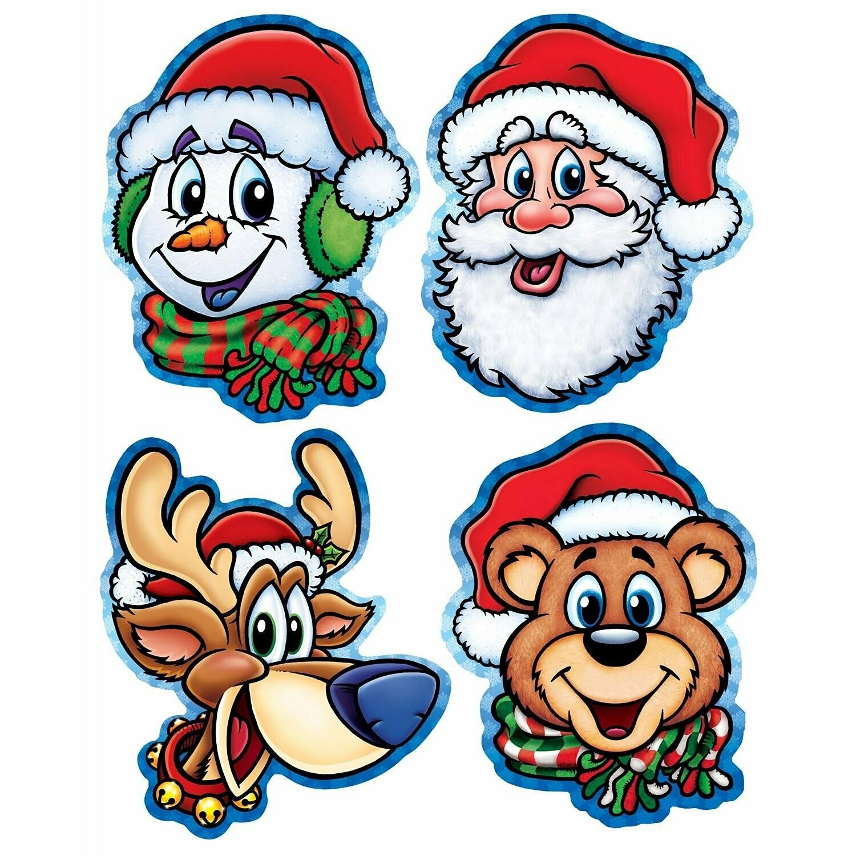 Cutout Christmas Companions Pk-4