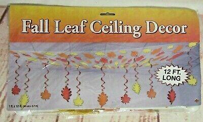 Fall Leaf Ceiling Decor- 12ft long
