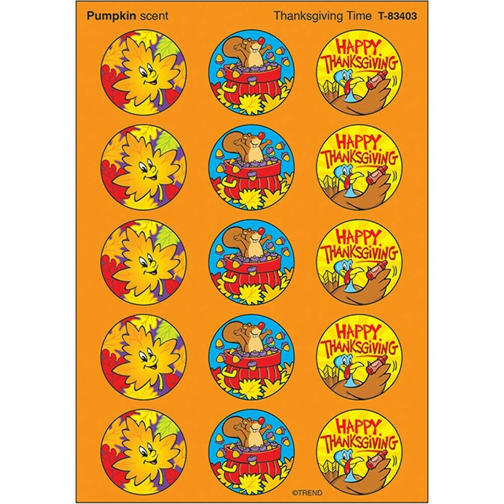 Stickers Pumpkin Scent (4 sheets)