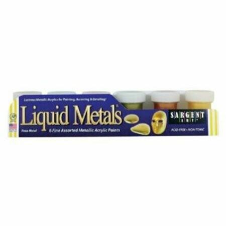 Acrylic Paint Metals Colors [pk-6]