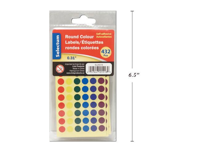 Labels Color Coding Round- 432pcs