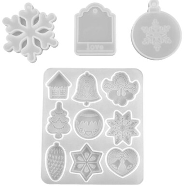 Silicone Mold Christmas For Resin
