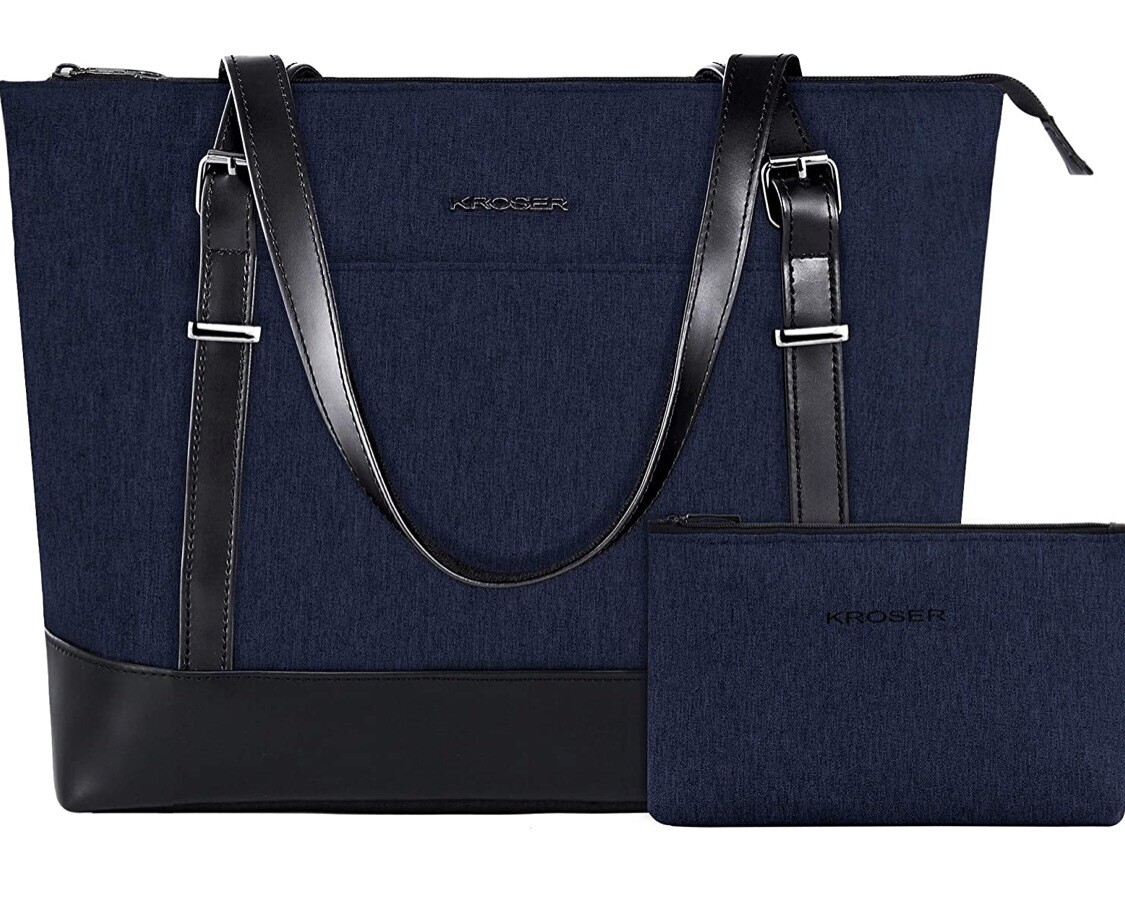 Laptop Tote Bag 15.6in Blue