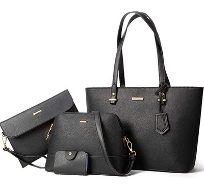 Laptop Tote Bag Set Black